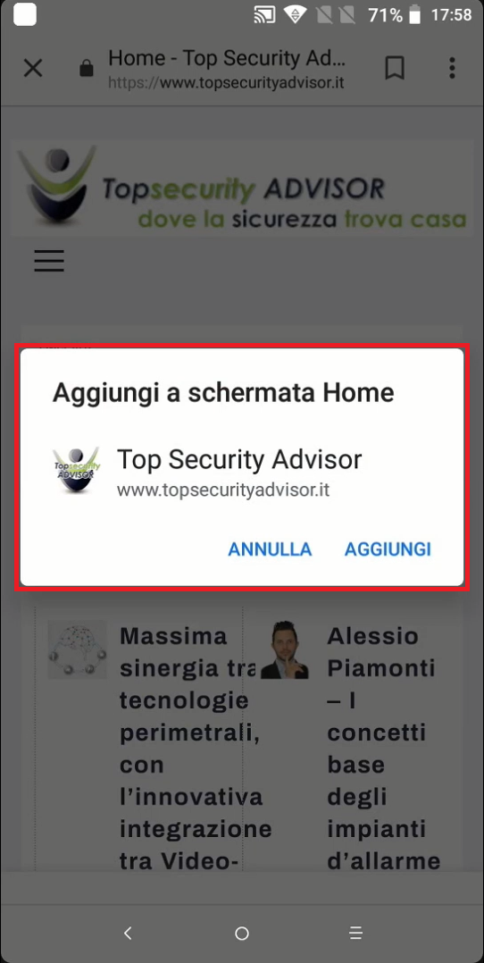 Top Security Advisor diventa PWA!